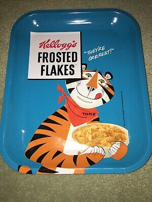 Retro 2017 Kelloggs Frosted Flakes,Theyre Great,Tony The Tiger Metal Dinner Tray