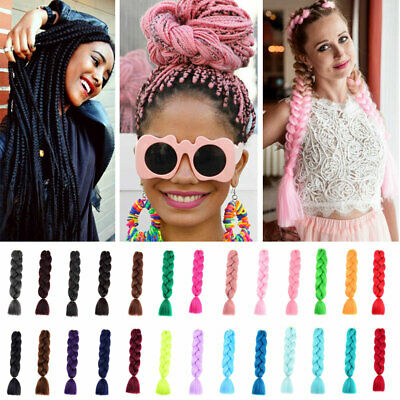 2Pc 24'' Jumbo Braiding Hair Extensions Xpression Crochet Twist Braids for Party