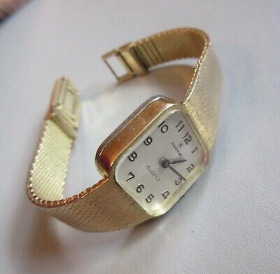 Junghans Lady Vintage Germany gold plated For Spare parts or repair!
