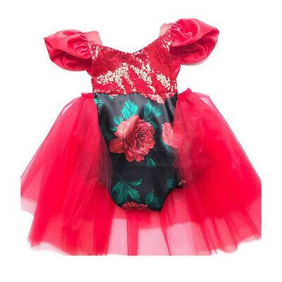 UK Baby Girl Christmas Xmas Dress Princess Girls Cute Bowknot Party Gown Dresses