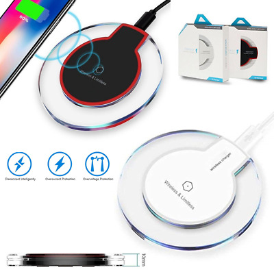 Universal Qi Wireless Charger Dock Charging Pad Mobile Phone Adapter Wirless