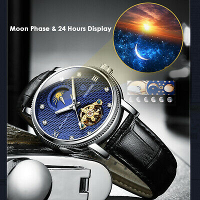 TEVISE T612 Business Men Automatic Mechanical Watch Fashion Leather Strap J2O1