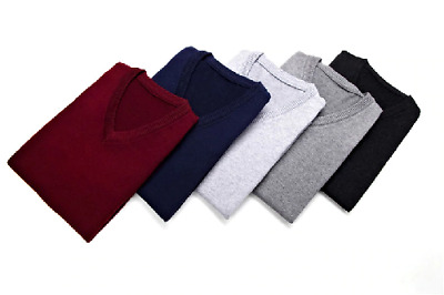Sweater Men Clothes Autumn Winter Warm Cashmere Wool Pull Classic Casual  Vest