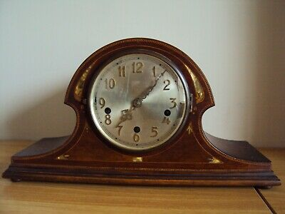 A Wonderful Antique/Vintage Inlaided Wooden Mantel Clock