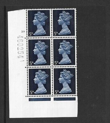 Machin - 5d  - cylinder block of 6 - cyl 10  NO DOT- unmounted mint