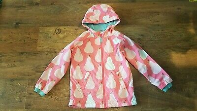 Girls Boden Pink Pear Print Jacket Coat Age Size 7 8