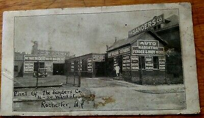 *RARE* Early 1900's Auto Repair Shop The Sanders Co. Rochester,N.Y.