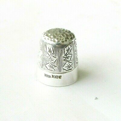 Vintage solid silver sterling thimble Birmingham hallmarks dated 1986