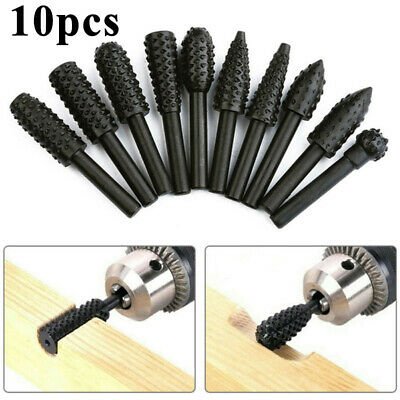 Woodworking Electric Rotary Wood Carving Grinding Milling Tool 10pcs/Set