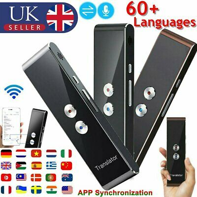 Smart Language Translator Device Portable Real Time Instant 2 Way Translation UK