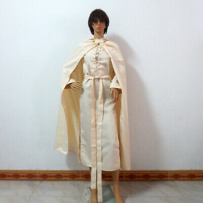 Lord of the Rings Gandalf White Cosplay Costume Halloween Robe Cloak Cape GG.119