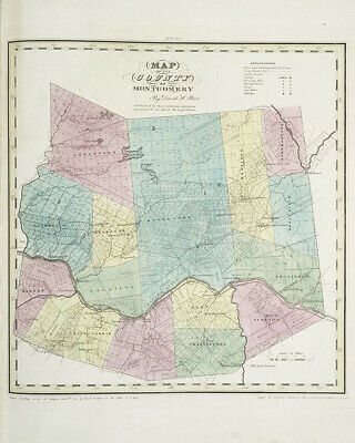 1829 Map of Montgomery County New York
