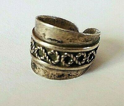 Antique  silver  ring original very old infinity mark unisex free size jewelry