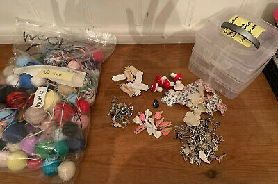 Craft Joblot With Beads, Wool And Charms All In Organiser