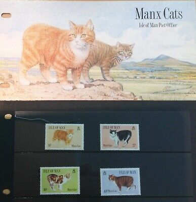 Isle Of Man  Presentation Pack 1989 Manx Cats Sg399-402