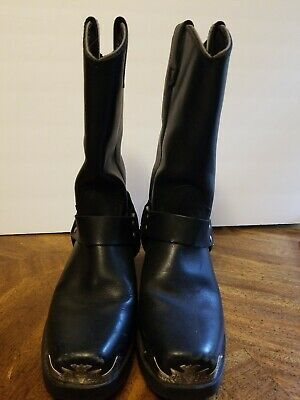 Harley Davidson Mega Harness Leather Motorcycle Riding Boots Men's Size 7 1/2 EW