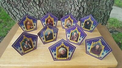 Harry Potter ☆☆9 PACK CHOCOLATE FROG CARD OFFICIAL SET☆ Free Shipping w/tracking