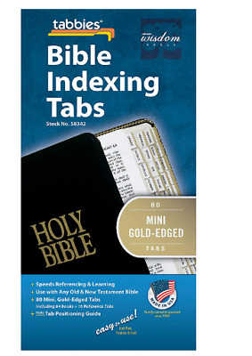 Tabbies 80 Mini Gold-Edged Bible For Both Old & New Testament 64 Books,16 Ref