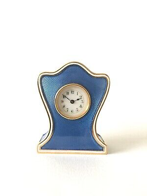 Miniature Guilloche Enamel Carriage Clock