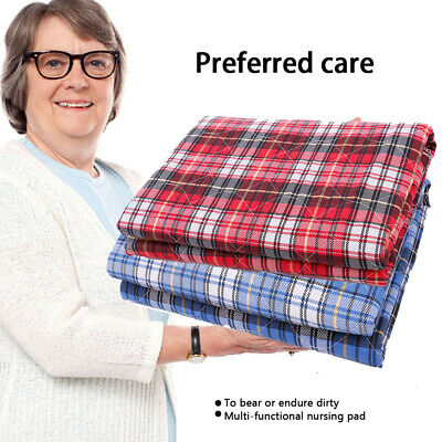 Washable Waterproof Incontinence Bed Sheets Seat Pads Protection Mattress
