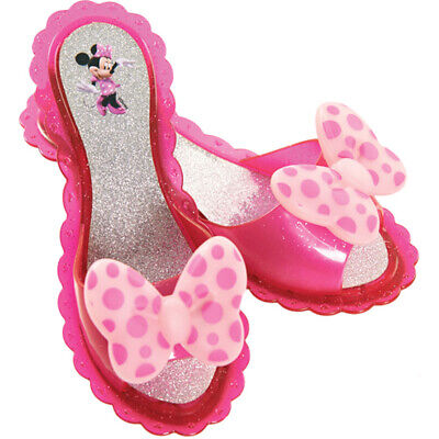 Disney Minnie Mouse Twinkle Bows Light Up Pink Shoes Girls Dress-up Play Shoes