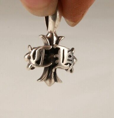 Precious China Solid Silver Pendant Cross Handmade Fashion Ladies Decora