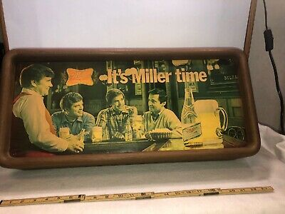 "Vintage ""It's Miller Time"" Bar Sign Beer Man Cave High Life"
