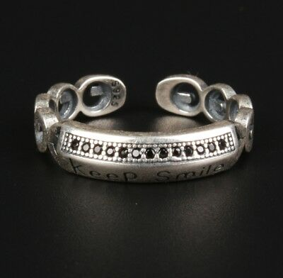 Pure Solid Silver Ring Statue Fashion Women Gift Collection Limited Edition