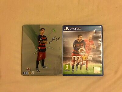 FIFA 16 Collecter's Edition STEEL CASE (Sony PlayStation 4, PS4, 2015)