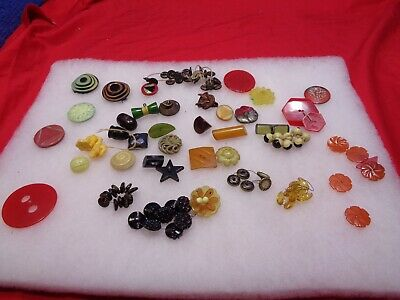 ESTATE BUTTONS. Vintage Mixed Lot of Miniature Buttons #89