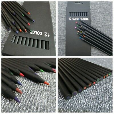 12Pcs Charcoal Pencil Colorful Sketch Drawing For Artist Sketching Drawing Set s