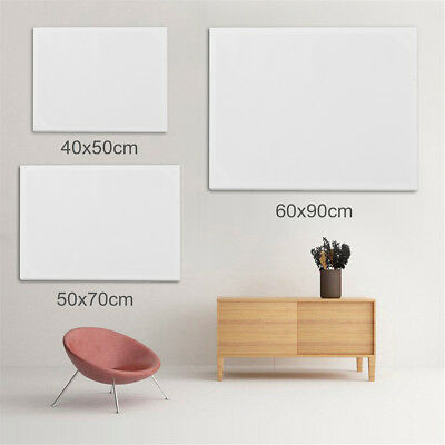 Blank Artist Stretched Canvas Art Plain Acrylic Oil Painting Board Framed