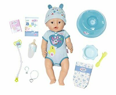 Baby Born Soft Touch Boy Interactive 43cm Function Doll Life like Features New