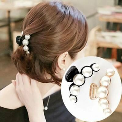 New Women Girls Hair Clip Pearl Hairpins Headwear Hair Claw Rhinestone Grips Pin