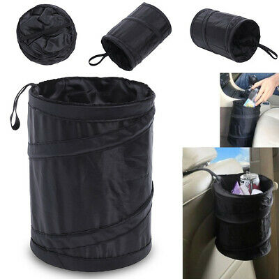 Portable Car Trash Bin Collapsible Hanging Garbage Bag Leak Proof  Waste Bin