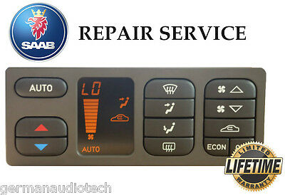 PIXEL REPAIR SERVICE for SAAB 93 ACC AUTOMATIC CLIMATE CONTROL LCD DISPLAY LIGHT