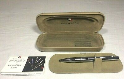 Sheaffer Intrigue, Black / Chrome Ball Point Pen with Case (PERSONALIZED)