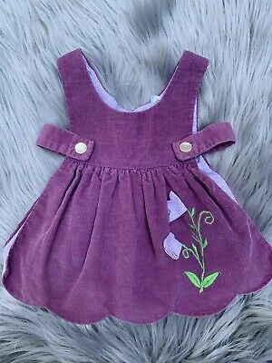 BABY GIRLS VINTAGE CORDUROY DRESS INFANT SIZE 12 MONTHS Lined