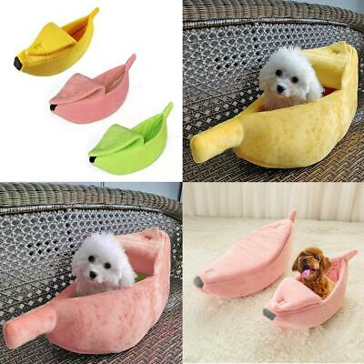 Pet Cat Dog Soft Warm Nest Banana Kennel Puppy Bed Cave House Sleeping Bag Sofa