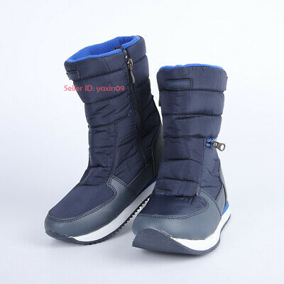 Kids Boys Girls Winter Warm Snow Boot Fleece Lined Thermal Non-slip Cotton Shoes