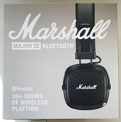 Marshall Major III 3, Casque Noir Sans Fil  Bluetooth