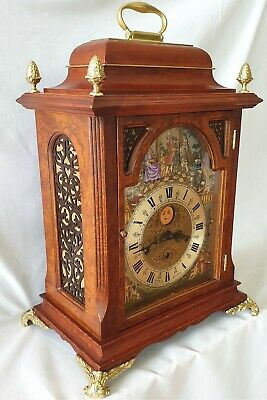 Bracket Clock Christiaan Huygens  Automated Violin Players 3 Melodies Moon Dial
