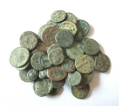 Lot von 50 x ancient coins from greek and roman time