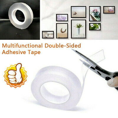 Double-Sided Nano Magic Tape Traceless Washable Adhesive Invisible Gel Anti-Slip