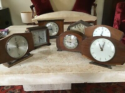 Seven Vintage/Retro Mantle Clocks For Restoration Smiths Etc.