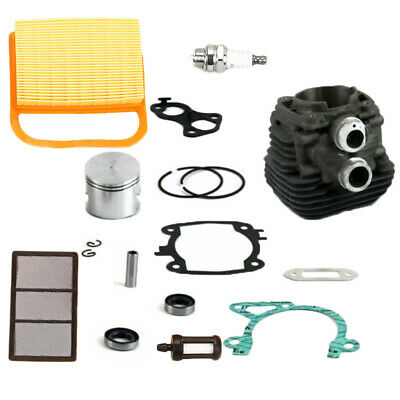 Gasket Piston Air Filter Spark Plugs Cylinders Replacement For Stihl TS410 TS420