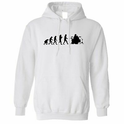 Musician Hoodie Evolution Of A Drummer Drumkit Music Drums Band Logo