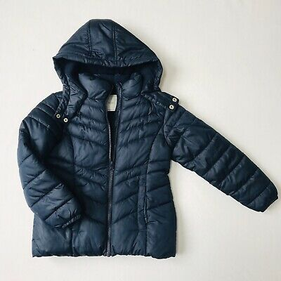 Girls Winter coat jacket navy blue Next size 7 years excellent condition