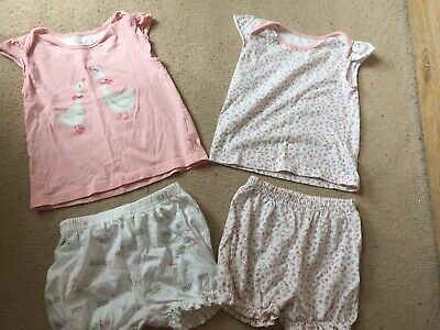 Mothercare Baby Girl Floral Geese Pyjama Set 18-24 Months 1.5-2 Years Cute