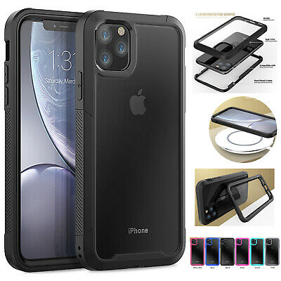 For iPhone 11,11 Pro ,Pro Max Clear Case Hybrid Heavy Duty Shockproof Back Cover